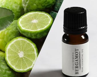 Bergamot essential oil UK. Therapeutic grade aromatherapy bergamot oil in 10ml bottle.