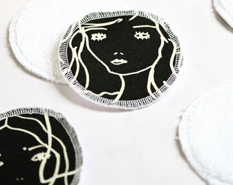 Reusable cotton make-up remover pads