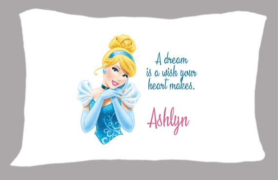 Cinderella personalized pillowcases