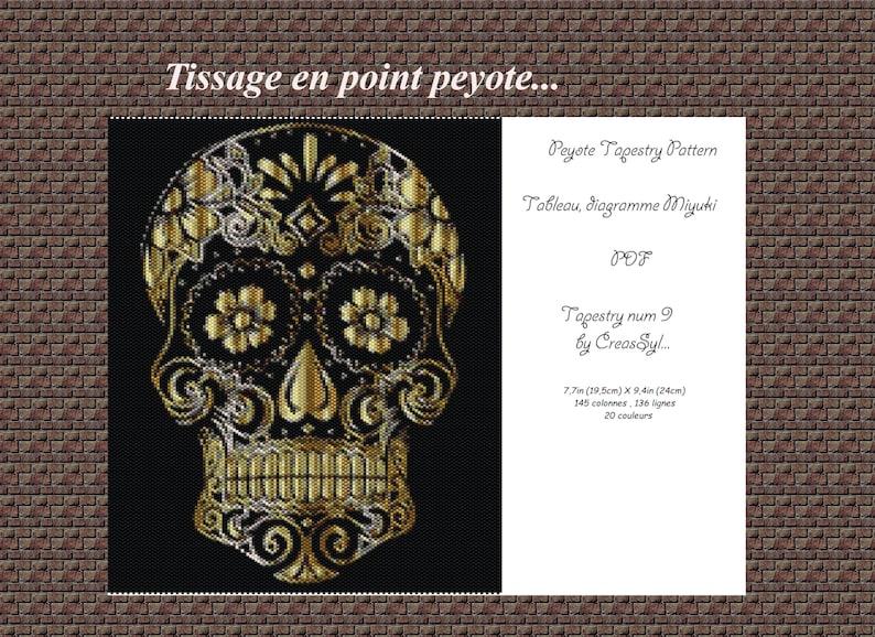 Tapestry peyote tableau tissage miyuki Diagramme miyuki pattern Pdf