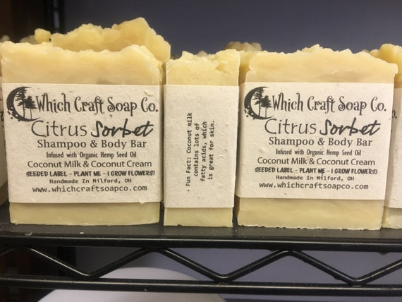 Citrus Sorbet - Coconut Milk & Coconut Cream Shampoo and Body Bar