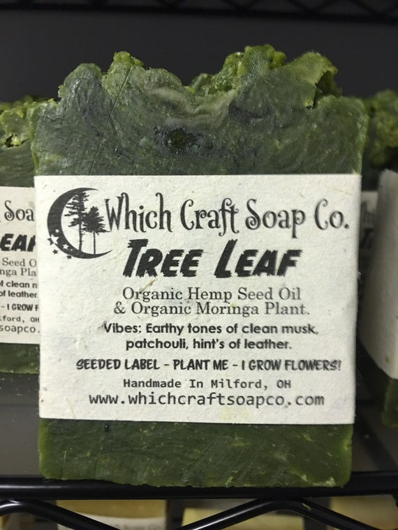 Tree Leaf - Moringa Plant Bar - 100% Zero Waste Packaging - Label's are seeded paper and grow flowers when planted.