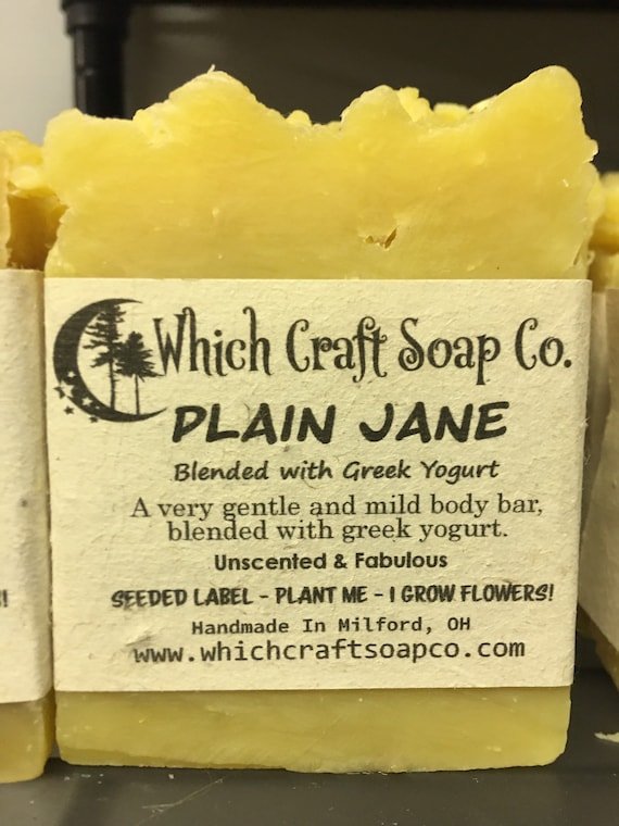 Plain Jane-Unique All Natural Handmade Shampoo & Body Soap Bars for Men and Women. Palm Oil Free. Eco-Friendly Bars with Benefits!
