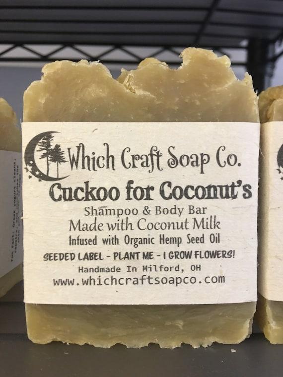 Cuckoo for Coconut's - Coconut Milk Shampoo & Body Bar infused with Organic Hemp Seed Oil