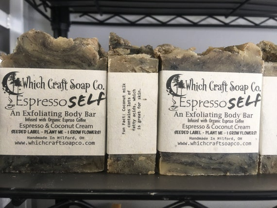 Espresso Self Espresso and Coconut Cream Exfoliating Body Bar