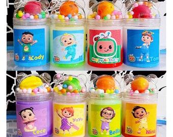 CocoMelon Theme Birthday Party ,Slime Kits ,Fruit Foam ,foam Balls, Kids Party, Party Favors