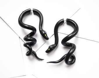 Ball Python Snake Spiral Mini Hoop Plug Gauges