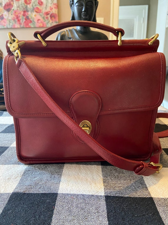 Coach Vintage EUC Red Willis Bag Style #9927