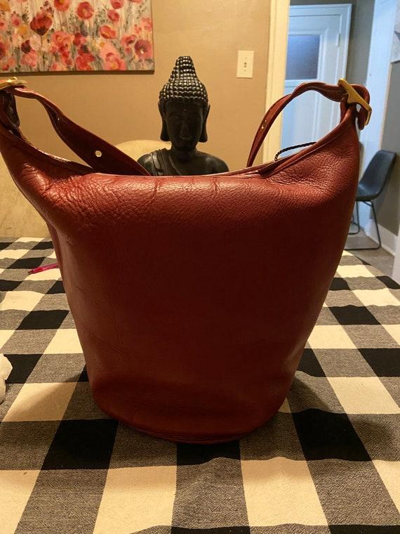 Coach Vintage EUC Red Duffle/Feedsack Style #9085.