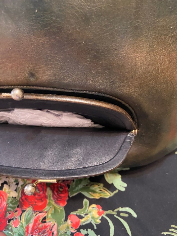Coach Bonnie Cashin Watermelon Kisslock Tote in O… - image 6