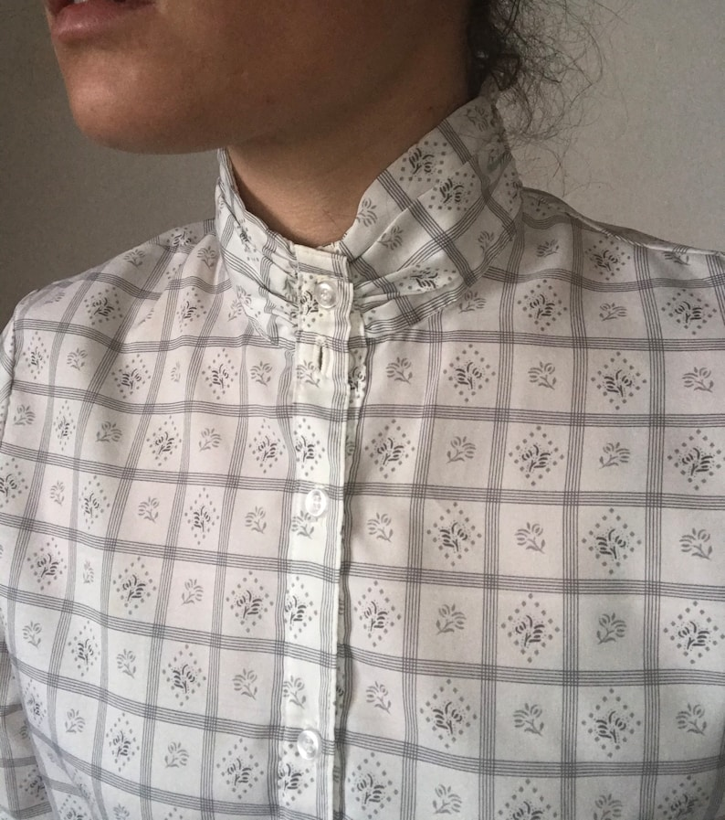 Vintage Checkered Blouse