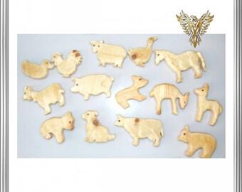 Wooden Toys, Farm, Animals