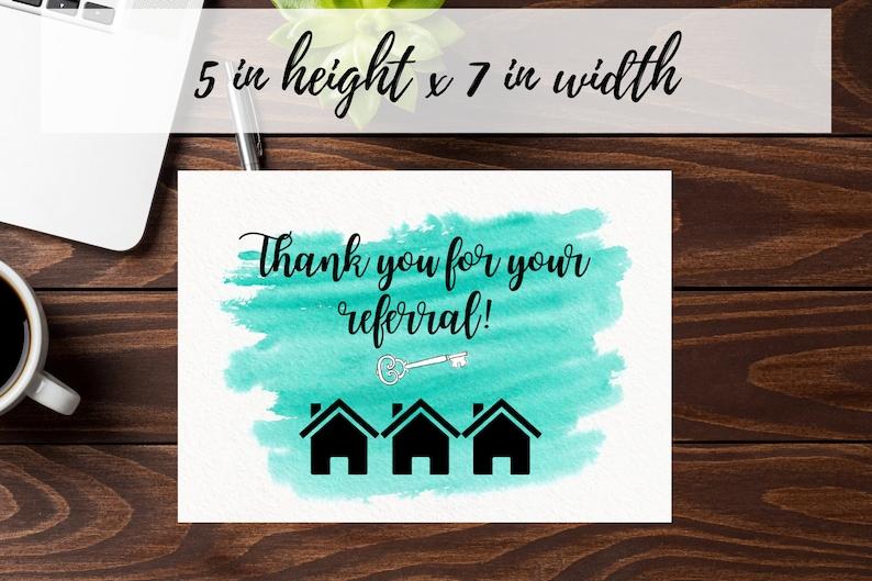 realtor thank you card thank you referral card real estate