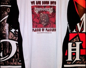 Scrimm Bloody Gore: Plague Of Plagues tee shirt, gothic, horror, gore, skulls, sweater, pullover, polyester, cotton