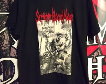 From Beyond The Day Of Death screen printed shirt. Zombies evil dead chainsaw undead rotting