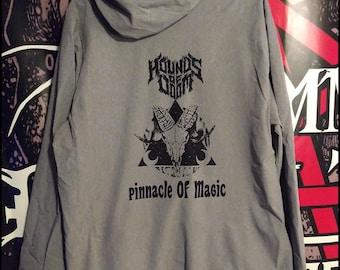 Hounds Of Doom: Pinnacle Of Power full zipper jacket with hood. Wind breaker, coat, hoodie, drawstring.