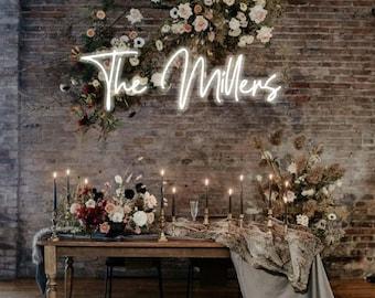 Custom Wedding Neon Sign Bridal Party Reception Decor Neon Lighting Wedding Gift