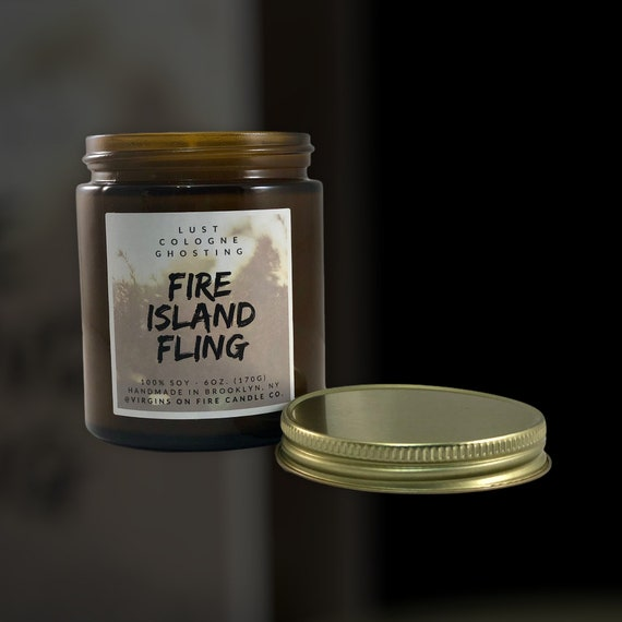 Soy Candle Fire Island Natural Soy Wax Beach Scent New York Long Island Ocean Scent Fresh Scent