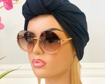 Black Pretied Knotted Turban | Hair Tie | Gift For Loved Ones
