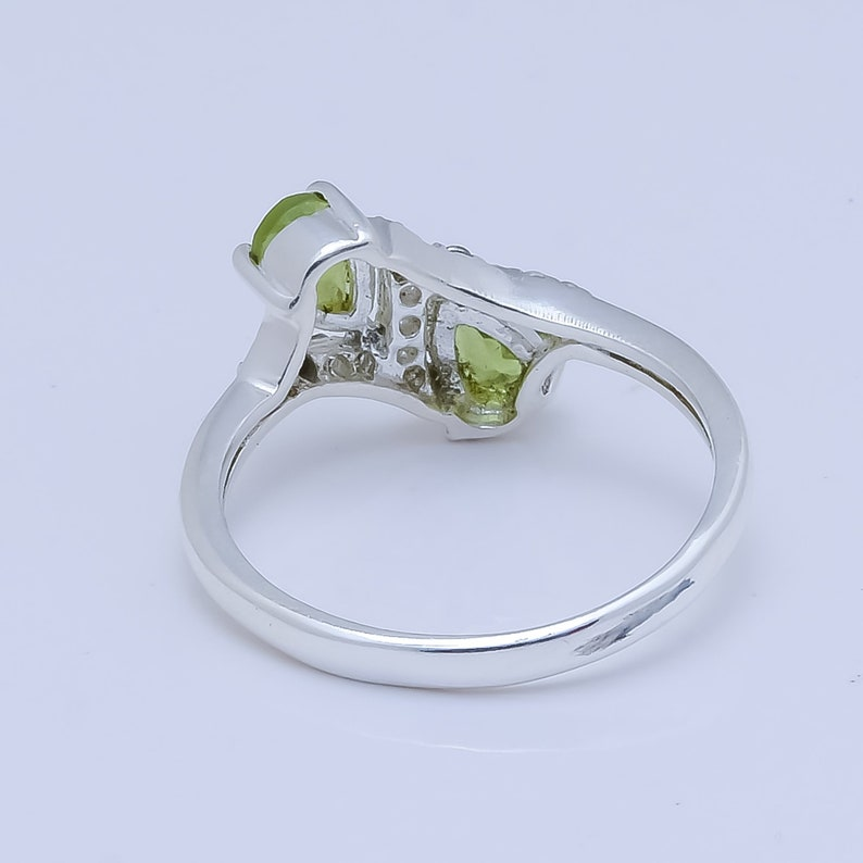 Free Shipping Peridot Natural Stone Rings 9251000 Sterling Fine Silver Handmade jewelry For Her Ring ALL Sizes Available