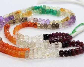 AAA mix semi muti hand carved watermelon      6-7 mm semi multi watermelon beads       16inch natural multi mix beads      hand carved beads