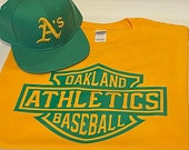 A 39 s Gold Green T-Shirt and SnapBack Hat Player Pack (New) Oakland Edition