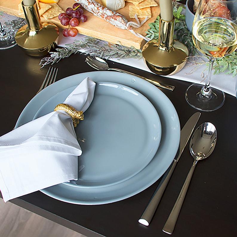 Dinnerware Set of Handmade Porcelain with Custom Inscription  image 0