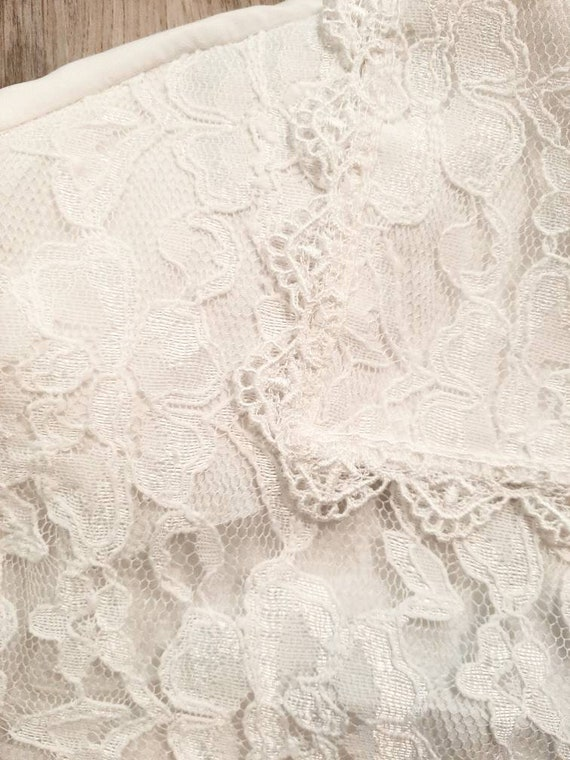 Vintage Lace Blouse, White Lace Blouse - image 4