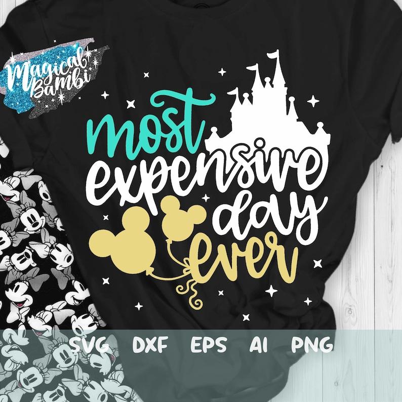 Most Expensive Day Ever Svg Dxf Disneyland Trip Svg Png Eps