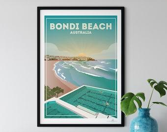 Bondi Beach Australia poster print