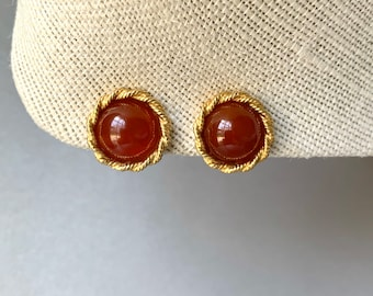 Hattie Carnegie Big earrings Retro style Broken clip on Offered for Repair Or re-purpose