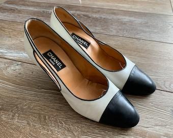 Boho Off-White 60s Leather Peeptoe Geometric Pattern Kitten Heels EU 37 UK 4 US 6 All Leather Shoes Snake Print Open Toe Ballerina Pumps