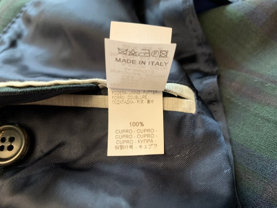 Brunello Cucinelli Mens Blazer Jacket Green Blue … - image 10