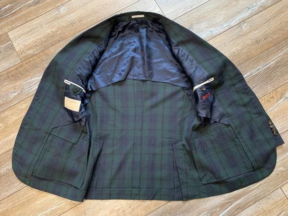 Brunello Cucinelli Mens Blazer Jacket Green Blue … - image 5