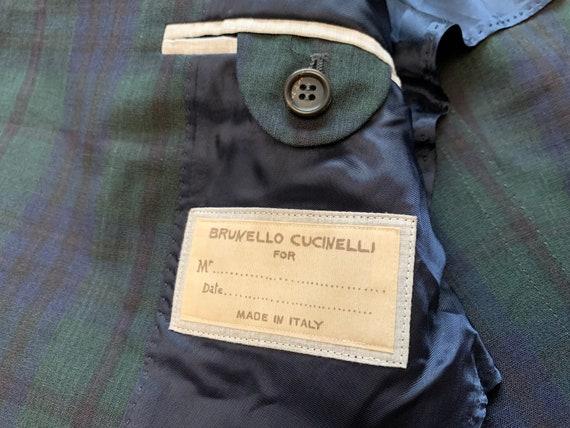 Brunello Cucinelli Mens Blazer Jacket Green Blue … - image 6