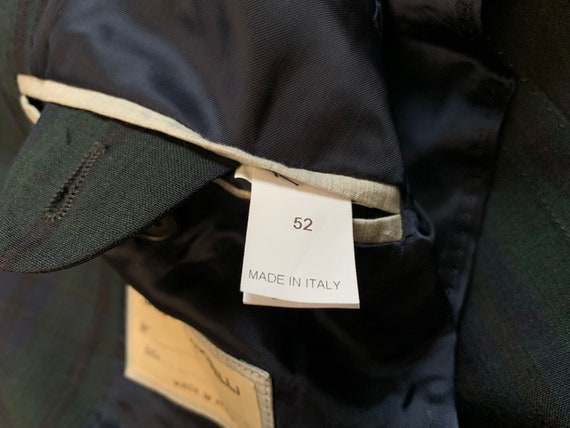 Brunello Cucinelli Mens Blazer Jacket Green Blue … - image 9
