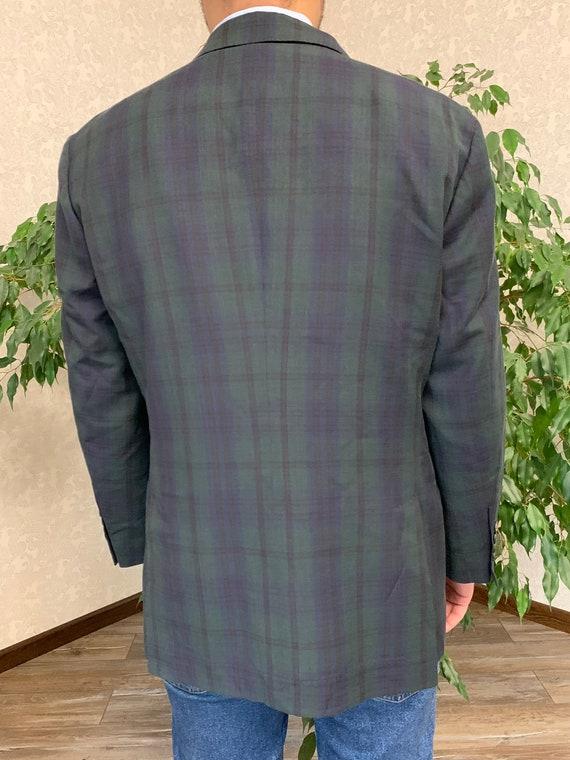 Brunello Cucinelli Mens Blazer Jacket Green Blue … - image 2