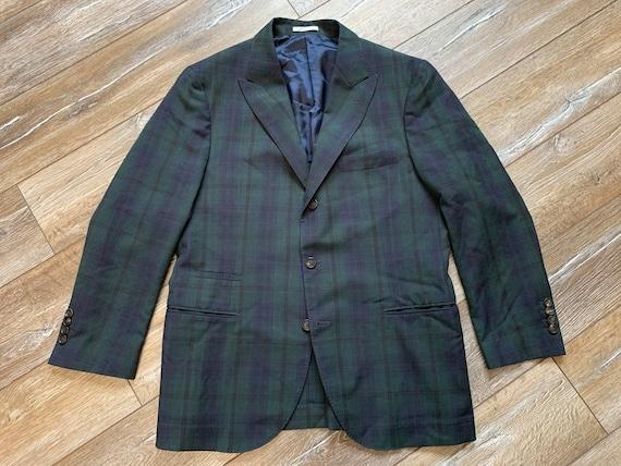 Brunello Cucinelli Mens Blazer Jacket Green Blue … - image 4