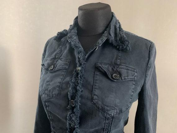 Prada Womens Jeans Jacket Blazer Grey AUTH Vintage