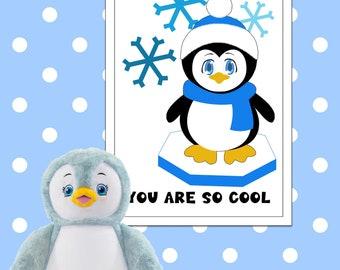 Poster penguin   printable   nursery   at the wall