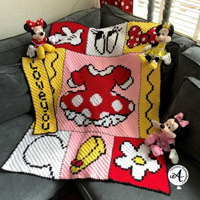 Crochet pattern C2C Minnie afghan image 0