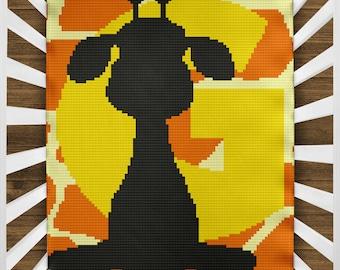 Crochet pattern C2C giraffe, corner to corner crochet pattern, crochet pattern giraffe, giraffe, crochet,