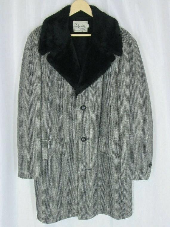 Vintage Mens Deluxe Quality Sportswear 42 Wool Coa