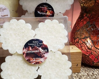 4 Pack No-Stick Natural Wax Tart Melt. Heavily scented long lasting 24-36 hour fragrance. Choose from many scents.