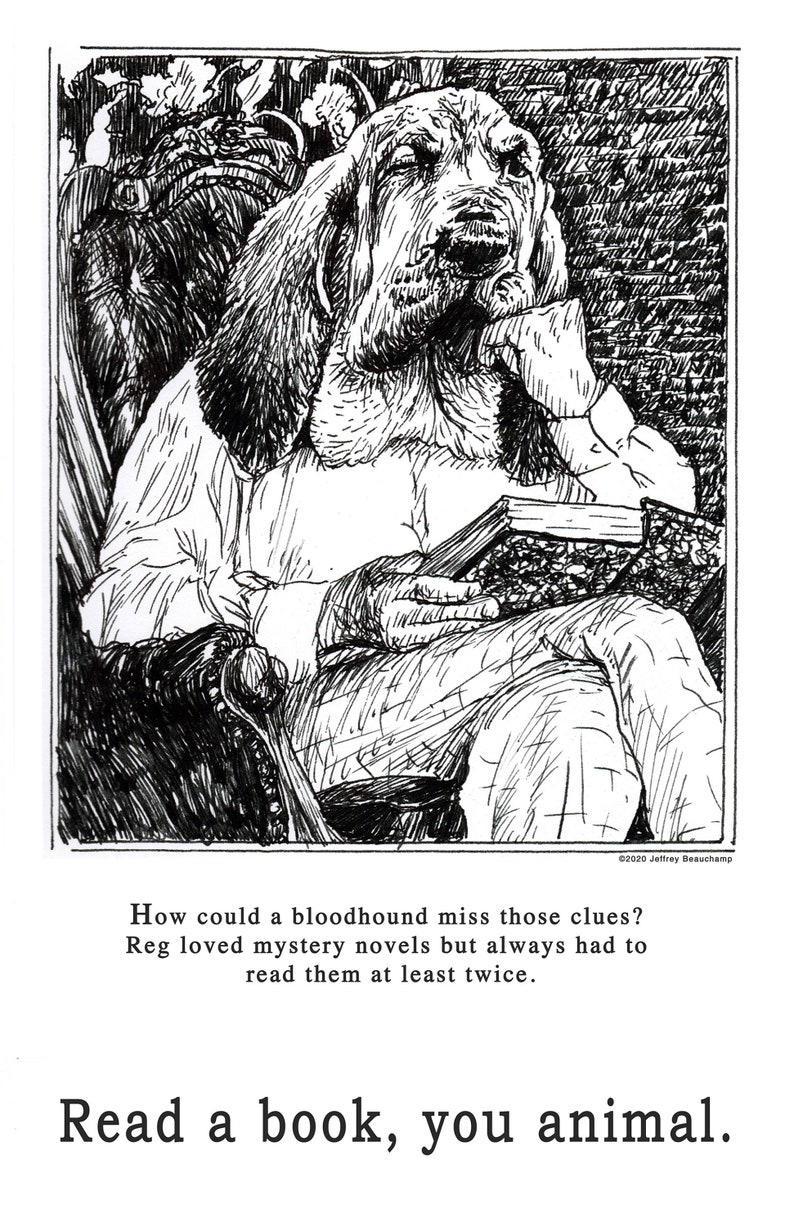 Read a book you animal. Series of 5 mini posters 17 x image 0