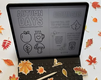 Digital AUTUMN DAYS guided journal - eBook version - daily happiness - celebrate Autumn - journalling - journal prompts - happy Autumn