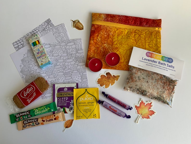 AUTUMN DAYS seasonal self care kit  letterbox gift  vegan image 1