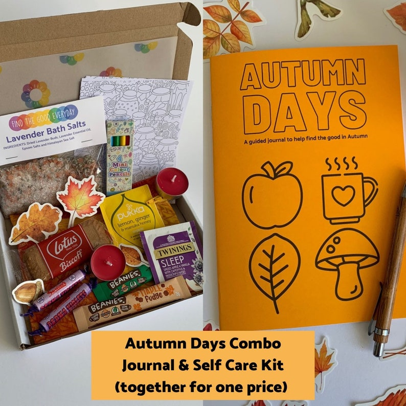 COMBO DEAL  Autumn Days guided journal & seasonal self care image 1