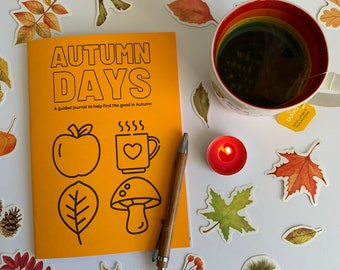 AUTUMN DAYS guided journal - letterbox gift - daily happiness - celebrate Autumn - journalling - journal prompts - happy Autumn