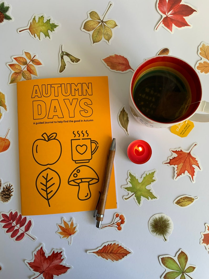 AUTUMN DAYS guided journal  letterbox gift  daily happiness image 1